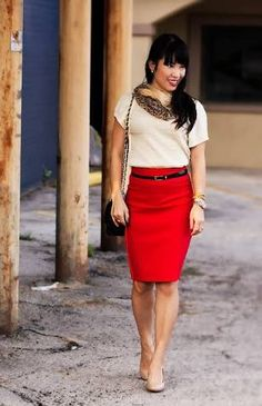 red skirt outfit - Google Search