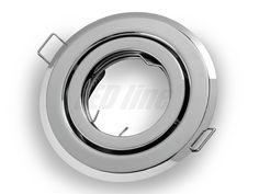 LED-Line LED / Halogen Spotlight Fitting Flush Mount Round Chrome Metal GU10: Amazon.co.uk: Lighting