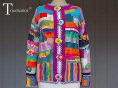 T-shirt Au Crochet, Poncho Crochet, Crochet Shirt, Crochet Jacket, Freeform Crochet, Irish Crochet, Aran Knitting Patterns, Hand Knitting, Crochet Patterns