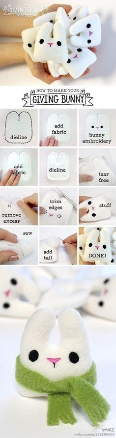 Little stuffed bunnies to make - these are so cute!