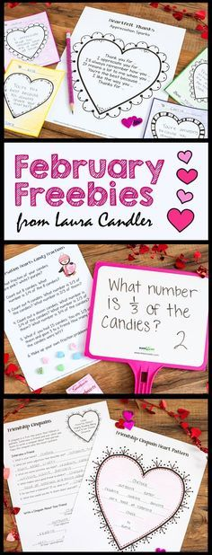 Fabulous February Freebies from Laura Candler! Over 25 pages of free lessons and teaching resources for upper elementary students!
