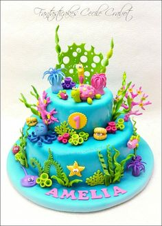 Under the sea cake for a little girl