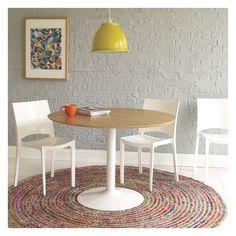 PAVAN Round multi-coloured woven rug 200cm | Buy now at Habitat UK