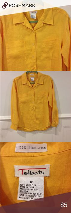 Talbots size 12 blouse  good condition Size 12 TAlbots button down blouse good condition Talbots Tops Blouses