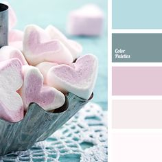 blue and gray, blue and pink, dark pink, gray and blue, light pink, peach, pink and blue, shades of pink, sky blue, soft pink.