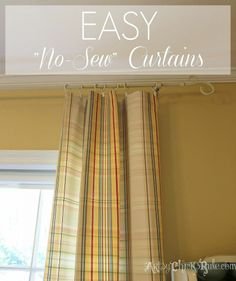 """New """"No-Sew"""" Curtains, """"New"""" Chairs, For a New Look!"""