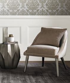 Crisp, clean and contemporary, Glass Heart is the perfect tone of off white to create a stunning backdrop to any décor. Pair with pearl wallpapers to create a sophisticated look. Pearl Wallpaper, Brown Paint, Heart Painting, Graham Brown, Designer Wallpaper, Crisp, Accent Chairs, Wallpapers, Contemporary