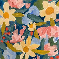 Pattern Art, Print Patterns, Floral Patterns, Visual Communication, Abstract Flowers, Illustration Art, Illustrations, Deco, Art Inspo