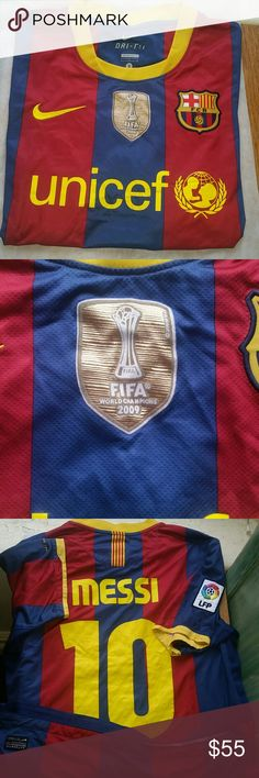 Nike jersey FC Barcelona world championship 2009 Authentic and rare jersey FCB holding Messi name .in great condition see photos Nike Shirts