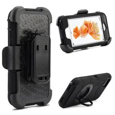 DW Super Armor Ring Stand Holster iPhone 7 Plus Case - Black