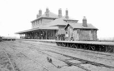 Cromer High (then just 'Cromer') shortly after opening on 26 March 1877 Old Train Station, Train Stations, Disused Stations, Cromer, North Coast, Model Trains, Norfolk, Locomotive, Wonderful Places