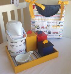 Kit higiene e Porta Fraldas Baby Boy Rooms, Kidsroom, Baby Love, Sweet Home, Chair, Diy, Lucca, Furniture, Design