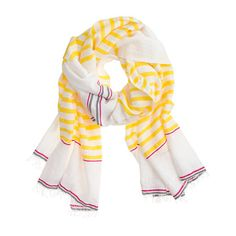 the cutest scarf in lemon yellow, white and red // extra 40% off with code 'SHOPMORE' during J. Crew's summer sale!