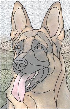 german shepard dog design pattern