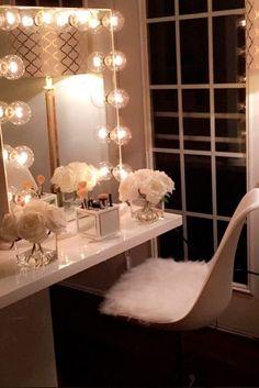 Most Popular Makeup Vanity Table Designs 2018 ★ See more: http://glaminati.com/makeup-vanity-table-designs/