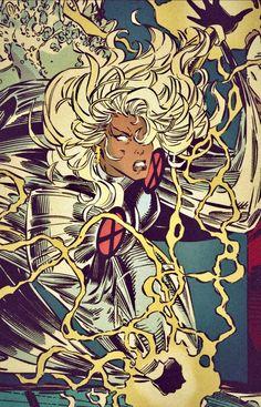 Storm (Old School) Marvel Comics, Marvel E Dc, Marvel Girls, Marvel Heroes, Marvel Universe, Comics Girls, Comic Book Characters, Marvel Characters, Comic Books Art