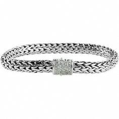 2a2c8f9c83ba78 John Hardy Classic Chain Medium Bracelet with Diamond Pavé Clasp at Von Maur