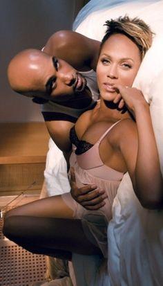 Boris Kodjoe and his wife, Nicole Ari Parker.