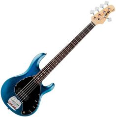 Sterling by Music Man RAY5 5-String Electric Bass Guitar Satin Blue Rosewoo