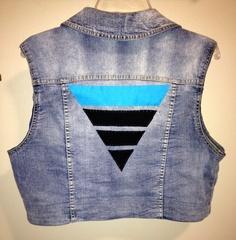 LXL Women's Liberty Triangle Denim Vest by PatchesForPeace on Etsy, $30.00