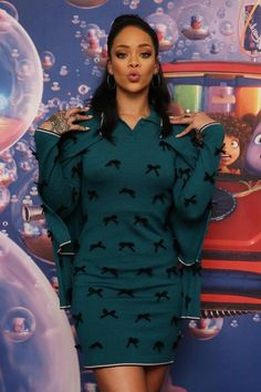 "Rihanna Promotes Her New Animated Feature ""Home"""