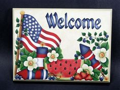 Welcome Signs | Patriotic Welcome Sign E-Pattern