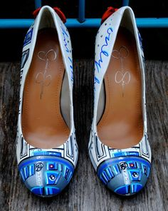 6b91d8c28b My custom made R2D2 wedding heels painted by Holly Grothues. Yes!