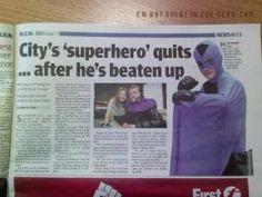 "LOL!!! Not so ""super"".......... Superhero Fail"