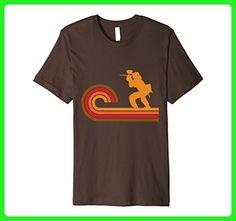 Mens Retro Style Paintball Player Silhouette Paintball T-Shirt Medium Brown - Retro shirts (*Amazon Partner-Link)