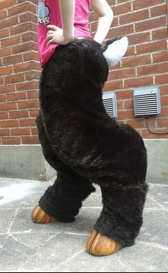 Satyr Costume Craft - tutorial to make cheap satyr legs and hooves - and probably other similar costumes