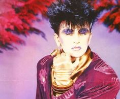 Steve Strange in purple One Wave, The New Wave, Goth Music, 80s Music, Leigh Bowery, Blitz Kids, 80s Goth, Magnificent Beasts, Stranger Things Steve