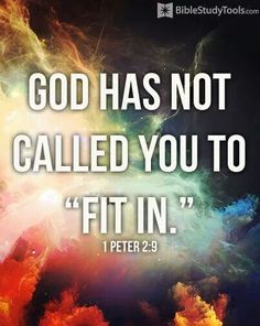 "~ You are not called to ""fit in""."