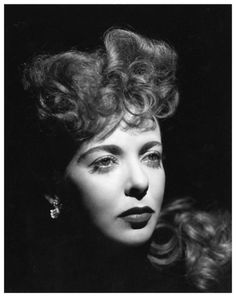 Ida Lupino... In addition to her career as an actress, she was one of the first female directors in Hollywood.