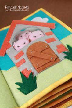Quiet Book em Feltro, tema: Era uma vez Fernanda Lacerda | www.boutiquedofeltro.com