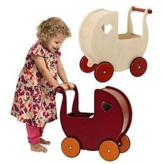 Your little darling is sure to fall in love with this Doll Pram by Moover Toys. This beautifully made doll carrier will encourage your child to look after their dolls and keep them safe. The wooden wheels and rubber tires allow for both indoor and outdoor use. HABA Moover Dolls Pram, Red  Price : $123.49 #playcarriage #woodentoys #dolls #christmasideas #christmasgifts http://www.thinkfasttoys.com/HABA-Moover-Dolls-Pram-Red/dp/B001EHJSWE