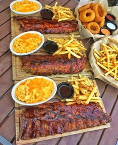 Starting Fryday Right w/ Racks Of Ribs Mac N Cheese Fries ____ . Tag Your Friends . : Foodie Recipes Dinner Lunch Breakfast DIY Pictures Recipe Quick Fast How To Food Porn, Food Platters, Meat Platter, Food Goals, Dinner Is Served, Aesthetic Food, Food Cravings, Food Presentation, I Love Food