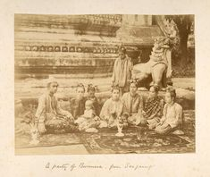A Party Of Burmese From Saigiang