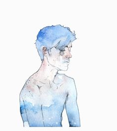 Agnes Cecile - I can feel the warmth hiding in your nose and cheek, so why are you so blue, boy? Boy Drawing, Painting & Drawing, Watercolor Illustration, Watercolor Art, Agnes Cecile, Ap Art, People Art, Art Sketchbook, Art Inspo