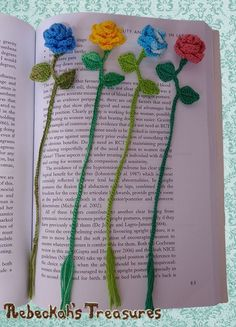 Ring Around the Rosy Bookmark - free crochet pattern at Rebeckahs Treasures . Ring Around the Rosy Bookmark - free crochet pattern at Rebeckahs Treasures . Crochet Bookmarks, Crochet Books, Thread Crochet, Crochet Bookmark Patterns Free, Free Crochet Flower Patterns, Crochet Ideas, Wire Crochet, Crochet Puff Flower, Crochet Flowers