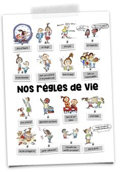 The rules of class life with Max and Lili – Mélimélune - New Sites Superhero Classroom, Classroom Board, Science Classroom, Classroom Decor, 1st Grade Homework, Empathy Quotes, French Language Lessons, French Classroom, Classroom Language