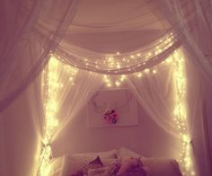 i love lace, tulle anything like that with lights, for any wedding