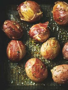 Parma Potatoes by foodanddtravel: Potatoes rolled in thin slices of Parma ham and roasted. #Potatoes #Parma_Ham