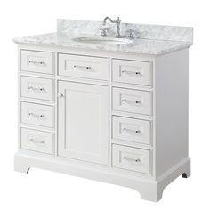 """$1190 Aria 42"""" Single Bathroom Vanity Set"""