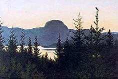 theodore kittlesen Landscape Art, Landscape Paintings, Most Popular Artists, Pop Up Art, Troll, Russian Painting, Nature Paintings, Creature Design, Theodore Kittelsen