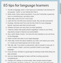 85 tips for sproglørnere 85 tips for language learners Korean Language Learning, Learning Spanish, Learning Italian, Spanish Language, Italian Language, German Language, Learn Espanol, Learning Languages Tips, Learning Apps