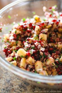 Holiday Cranberry Salsa Recipe ~ Says: this salsa is weirdly wonderful. Sweet, but a little spicy. Juicy and salty with a little crunch. And super festive. Throw this out at a party and people will try it and then not be able to stop eating it... ready in 10 minutes or less!
