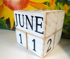 perpetual wooden calendar RUSTIC desk decor by AFieldOfSunflowers