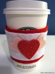 how to make a coffee cup holder for valentines diy