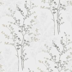 Arthouse Fern Motif Wallpaper - Silver, White and Grey - http://godecorating.co.uk/arthouse-fern-motif-wallpaper-silver-white-and-grey/