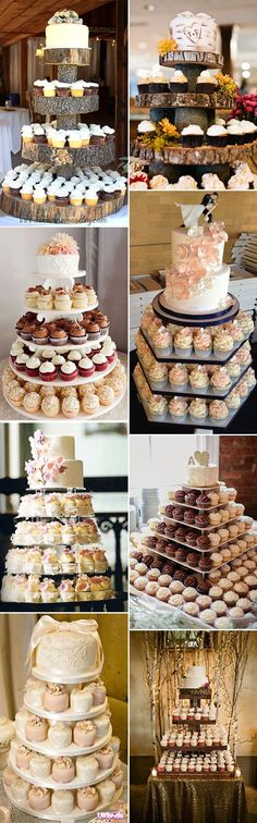 alternative cupcake wedding cake ideas
